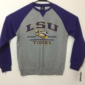 LSU Tigers Pullover Sweatshirt Heather Grey